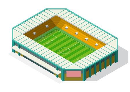 Vector isometric stadium of football or soccer