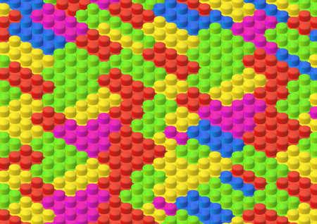 isometric colorful brick background