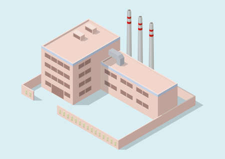 Isometric simple industrial building Illustration