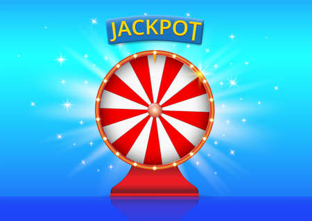 Realistic red jackpot wheel background