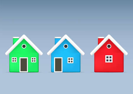 home icon illustration in 3d style