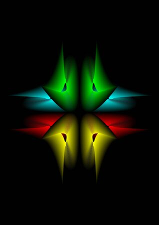 Abstract red yellow green and light blue background