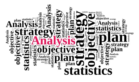 Analysis in word cloud Stock Photo - 18456877