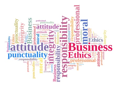 Business Ethics in word cloud photo