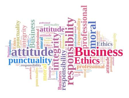 valores morales: �tica en los Negocios en la nube palabra