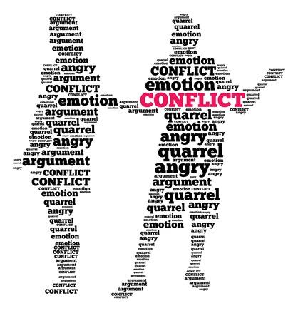 Konflikt in Wortwolke Standard-Bild - 26549535
