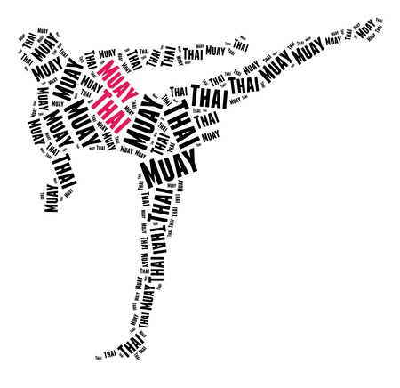 Muay Thai in word cloud photo