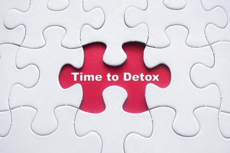 detoxing: Missing puzzle with Time to Detox word