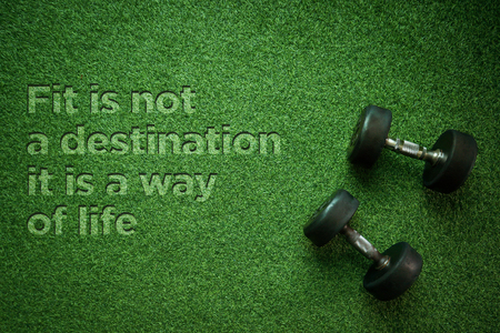Health Concept: Fit is not a desitnation it is a way of life Reklamní fotografie