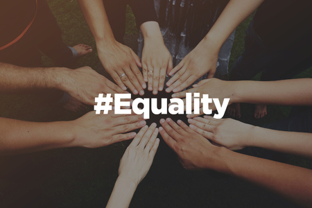 Collaboration Concept with text: Equality Reklamní fotografie