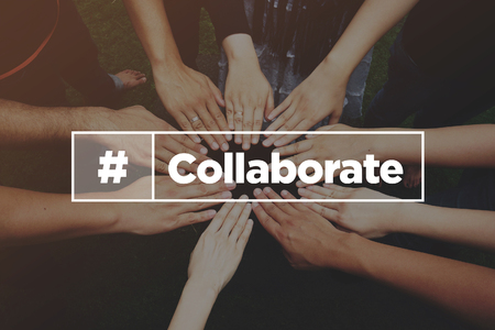 Collaboration Concept with text: Collaborate