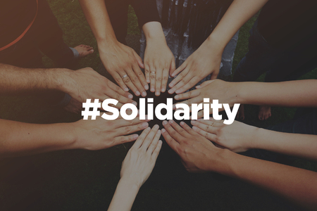 Collaboration Concept with text: Solidarity