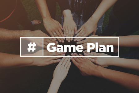 Collaboration Concept with text: Game Plan