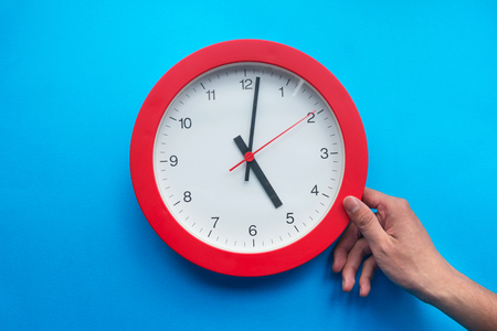Time management concept: End of working hour