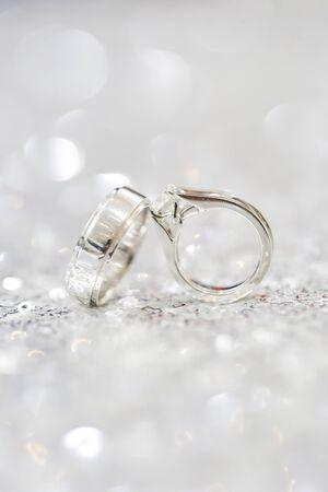 a closeup shot of wedding ring