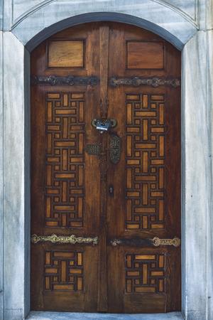 uniquely: Shot of a uniquely design front door taken in Istanbul, Turkey