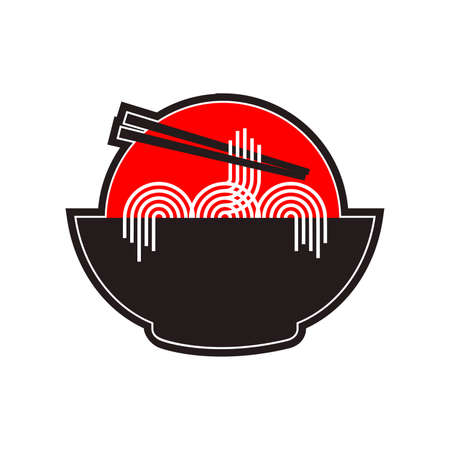 The Noodles Illustration with red circle