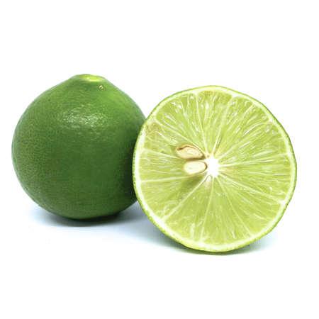 fresh lime isolated on white background Reklamní fotografie