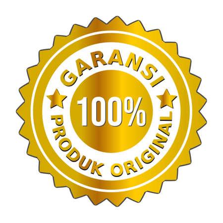 The golden badge vector guarantees the original product is 100 percent HD in Indonesian.  ini bahasa :