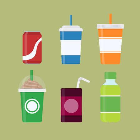 Set of drinks vector design