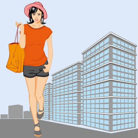 extravagant: woman shopping