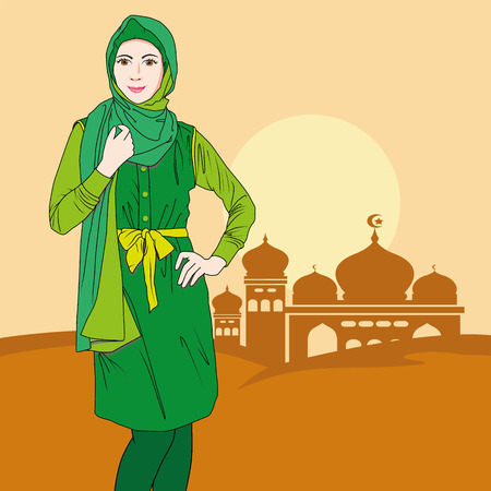 indonesia culture: moslem woman