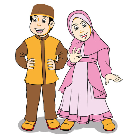 Moslem Children Vector