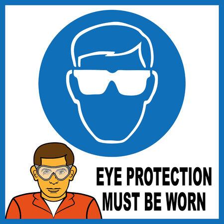 eye protection: eye protection Illustration