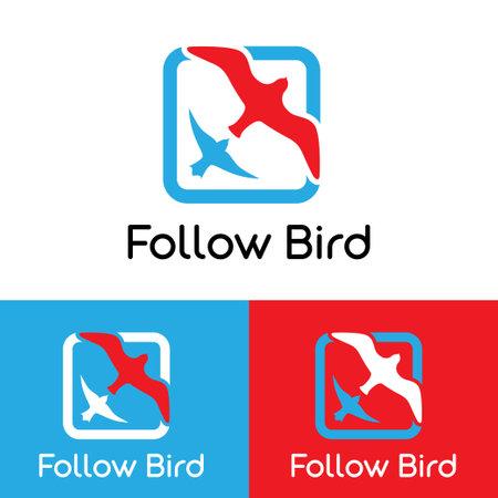 Logo bird fly following, bird swallow following out, icon bird swallow fly, corporate logo fly high, travelling vector, bird vector icon, travel logo, wing vector