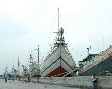 Traditional Ships in Sunda Kelapa Harbour, Jakarta