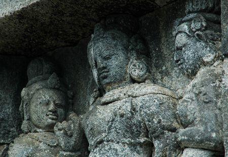 Reliefs of Borobudur Wall