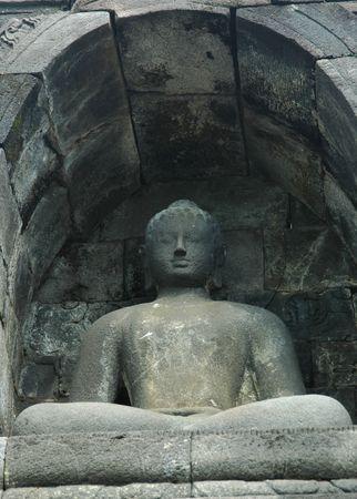 budha: Budha in Borobudur Temple Stock Photo