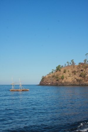 One day in Amed Beach, Bali, Indonesia