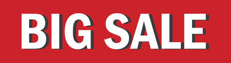 Vector design Big Sale, red and white background Ilustrace