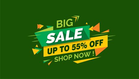 Big Sale, Colorfull Sale Banner Label Archivio Fotografico - 124883510