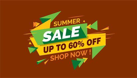 Summer Sale, Colorfull Sale Banner Label Archivio Fotografico - 124883517