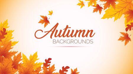 Autumn Background, Autumn leaves Background, Autumn Banner Backgrounds Ilustracja