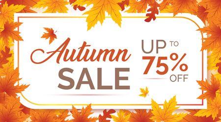 Autumn Sale Background, Autumn Background, Autumn leaves background, Autumn Banner Backgrounds Banque d'images - 138455470