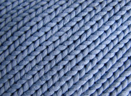blue wool pattern in close up photo