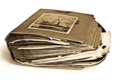 photograph: closeup of old photo album