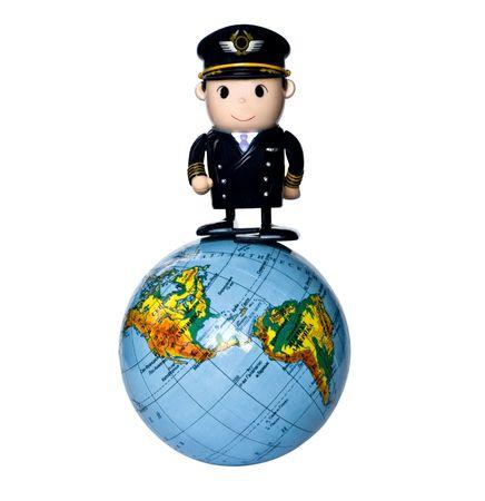 グッズ パイロット立って、地球上