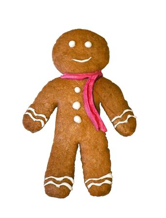 gingerbread man: gingerbread man isolated on white