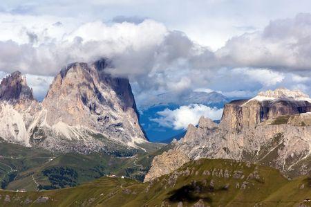 sud tirol: breathtaking view from Marmolada mountain, Northern Italy Stock Photo