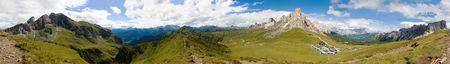 the valley: breathtaking mountain panorama, passo Giau, Italy