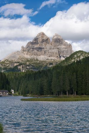 lake misurina: Lake Misurina and Tre Cime di Lavaredo, Italy