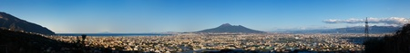 panorama of volcano Vesuvio, Naples Bay and Pompei photo