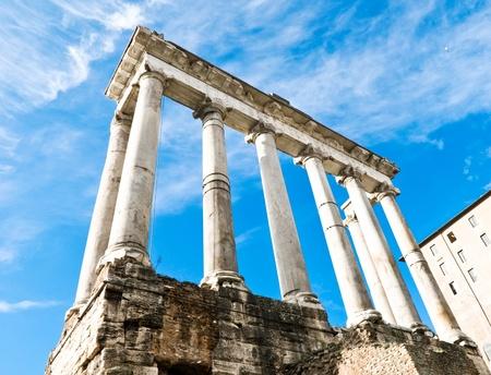 Temple of Saturn, Foro Romano, Roma, Italy photo