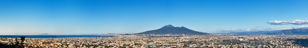panorama of volcano Vesuvio, Naples Bay and Pompei