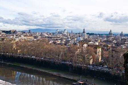 panorama di Roma, veduta aerea da Castel Sant'Angelo