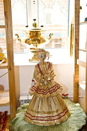 beautiful russian traditional straw toy